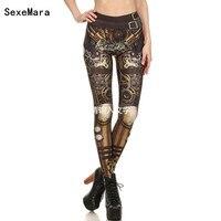 Fashion Design Leggings Women Steampunk Star Wars Leggin Women High Waist Mechanical Gear 3d Print Cosplay