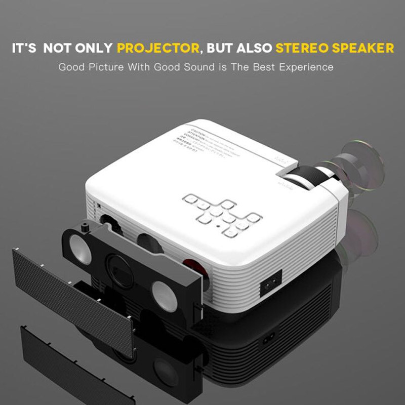 Adapter not included OBEST Mini Projector Portable UK PLUG Gift for Kids Children Mobile 12V Video-Projector Support HDMI WIFI VGA USB for Smartphone PC Laptop