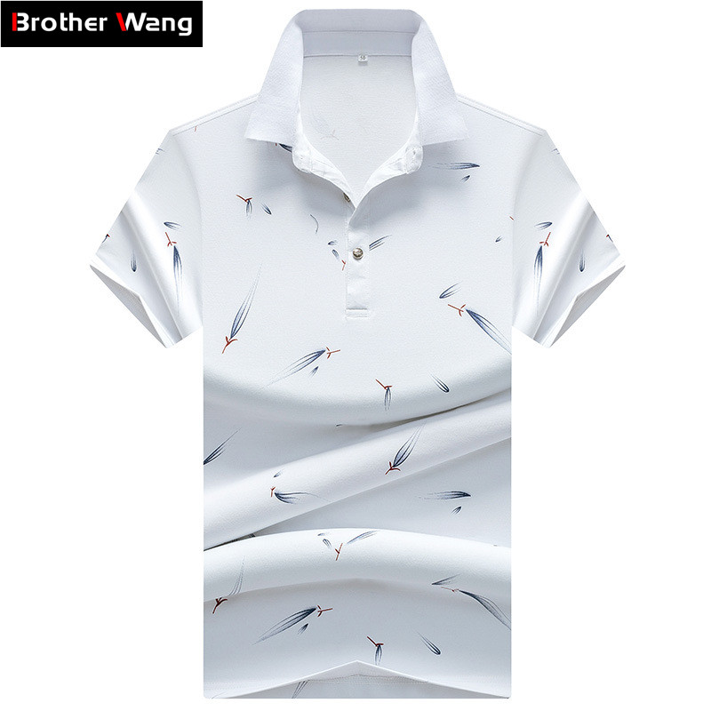 Men Brand   POLO   Shirt 2019 Summer New Style 100% Cotton Business Casual Fashion Printing Short Sleeve   POLO   Male Clothing