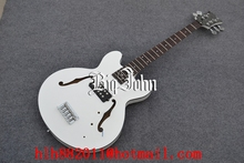 free shipping new arrived Big John 5-strings F hole electric bass guitar in white  made in China F-1881