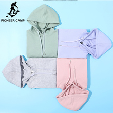 Pioneer Camp spring Plain Hooides Men brand clothing hooded Sweatshirts Male Cotton Solid Hoody Men's Clothing (China)