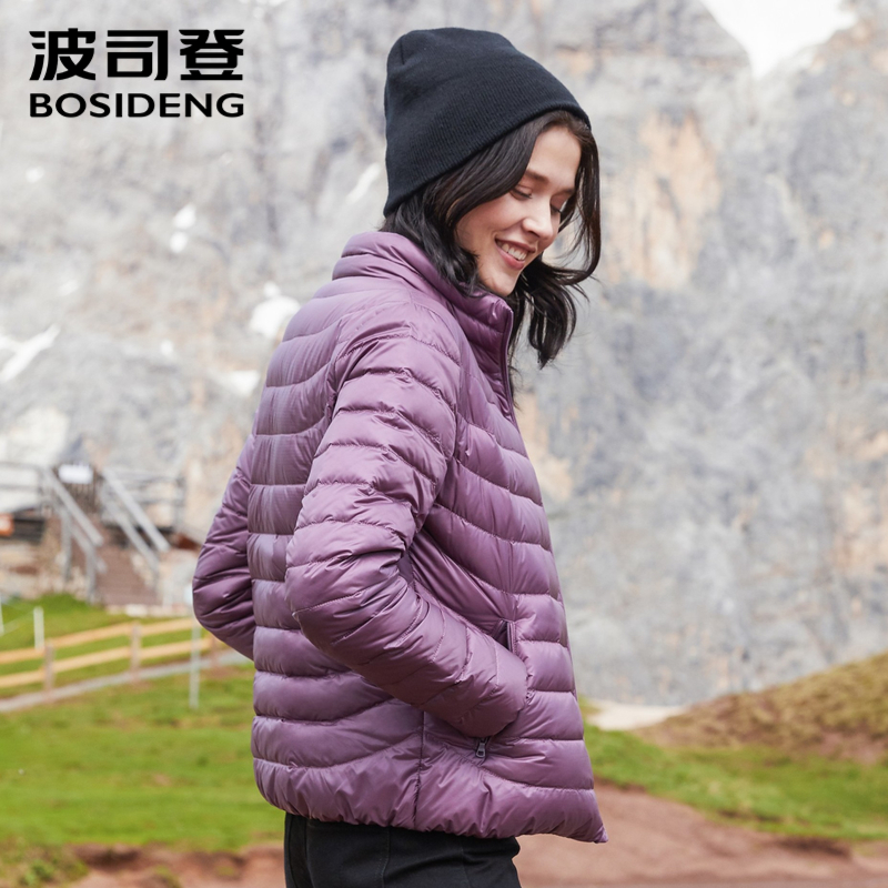 BOSIDENG 2018 NEW early winter down jacket for women duck down coat ultra light big size high quality oversize outwear 80131006B