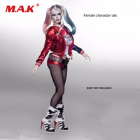 Female Character Set Clothes 1 6 Scale Suicide Squad Joker Harley Quinn Suits Head Toy Fit