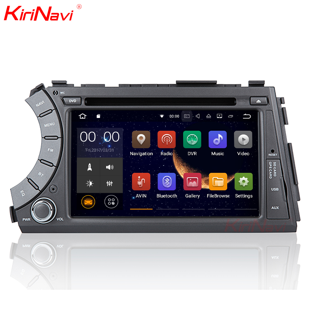 KiriNavi Android 7 1 Car DVD For Ssang Yong SsangYong Kyron / Actyon Sports 2005 2013 GPS Radio Stereo multimedia WIFI 3G sw bt