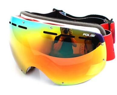 Prix pour POLISI Professionnel Snowboard Lunettes De Neige D'hiver Grand Sphérique Anti-buée Ski Lunettes UV Protection Skate Ski Lunettes