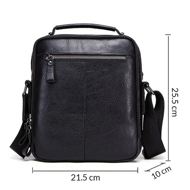 CONTACT'S 100% genuine leather men shoulder bag crossbody bags for men high quality bolsas fashion messenger bag for 9.7 1