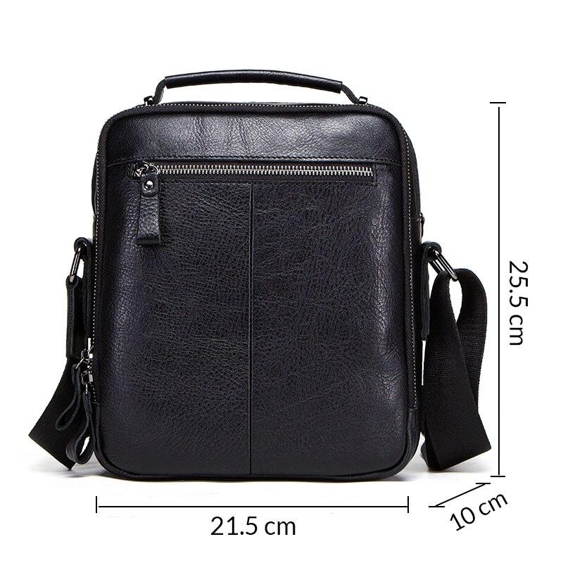 CONTACT'S 100% cuir véritable, homme sac à bandoulière bandoulière sacs pour hommes qualité supérieure bolsas sac de messager de mode pour 9.7