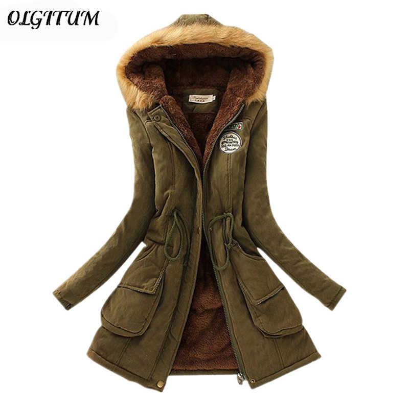 Casual Mit Kapuze Frauen Winter Parka 2019 Neue Weibliche Outwear Verdicken Warme Baumwolle Plus Größe Jacke Frauen Winter Pelz Jacke Für frauen
