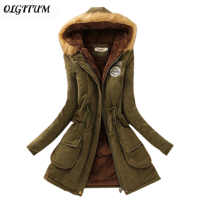 S-3XL Women Winter Coat 2019 New Female Casual Hooded Outwear Thicken Warm Cotton Jacket Women Winter Fur Jacket   Parka   For Women