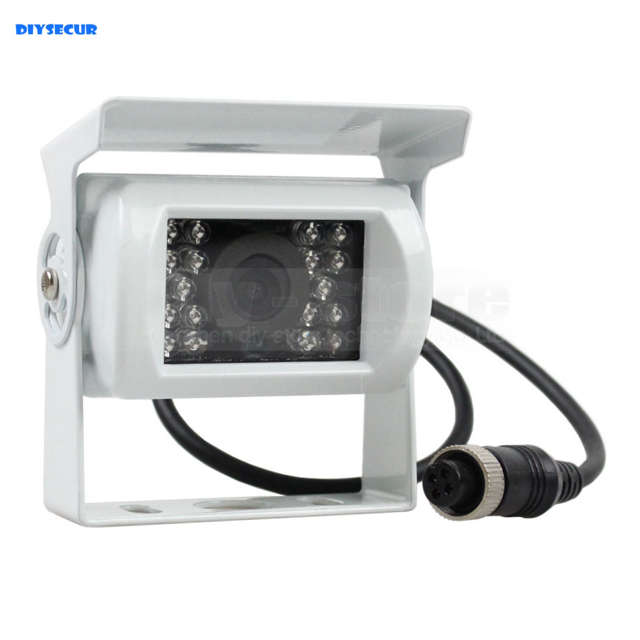 DIYSECUR New 4PIN HD IR Night Vision Car Rear View Reversing Parking Camera for Truck Van Bus Lorry White hd ccd 120 degree ir nightvision waterproof 4pin car parking rear view camera cmos bus truck camera for bus