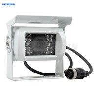 DIYSECUR New 4PIN HD IR Night Vision Car Rear View Reversing Parking Camera for Truck Van Bus Lorry White