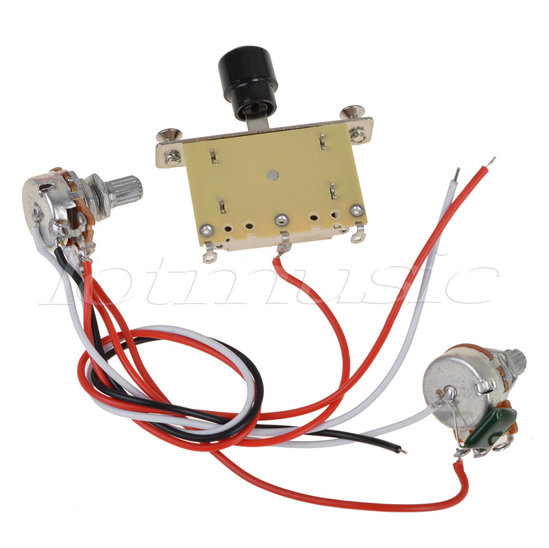 Kmise Prewired Guitar Wiring Harness 250k Pots 3 way Switch For Tele replacement kmise prewired guitar wiring harness 250k pots 3 way switch for EZ Wiring Harness Diagram Chevy at bayanpartner.co