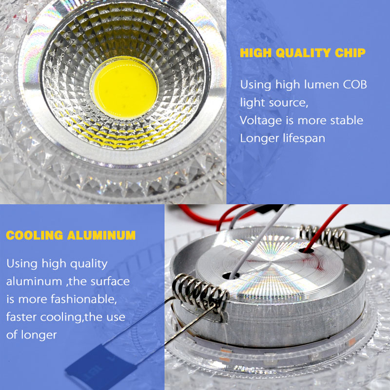 Downlights cob downlight led colorido luz Application : Living Room, kitchen, bathroom, office, booth