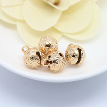 6PCS 8MM 10MM 12MM 24K Champagne Gold Color Plated Brass Carving Bell Beads Charms High Quality Diy Jewelry Accessories pack of 30 x golden plated brass 5 x 8mm kumihimo bell shape end caps ha03323 charming beads