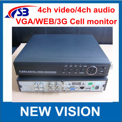 Freeshipping !4ch CCTV DVR Recorder / Network Standalone DVR Recorder with 4ch Audio Android phone view
