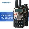 2 pcs baofeng uv-5re walkie talkie uv-5r versão atualizada uhf vhf dupla relógio UV 6R CB Rádio VOX FM Rádio Transceptor para a Caça