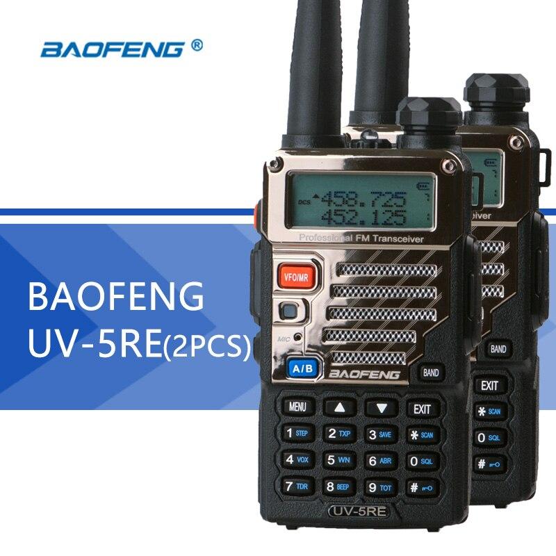 2PCS Baofeng UV 5RE Walkie Talkie UV 5R Upgraded Version UHF VHF Dual Watch UV 6R