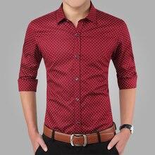 Мужская рубашка 2016 Slim Fit Camisa