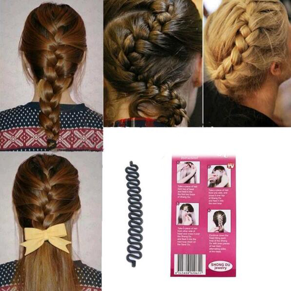 Haar Flechten Werkzeug Roller Hair Twist Styling Maker Werkzeug für Frauen ED