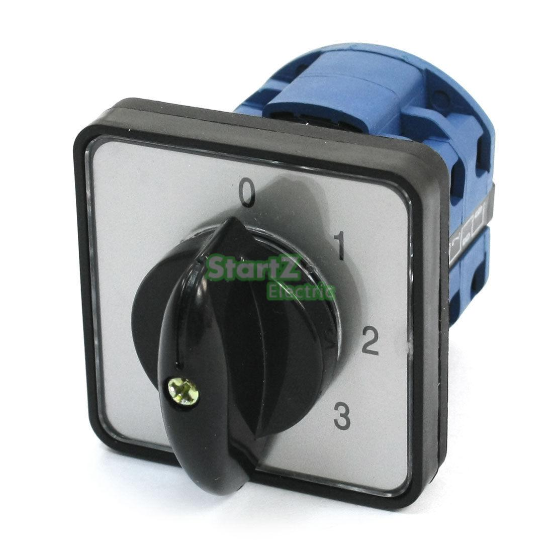 Panel Mount 4-Position Universal Rotary Cam Changeover Switch LW26-20 panel mount rotary cam changeover ammeter switch 4 positions ca10 a048