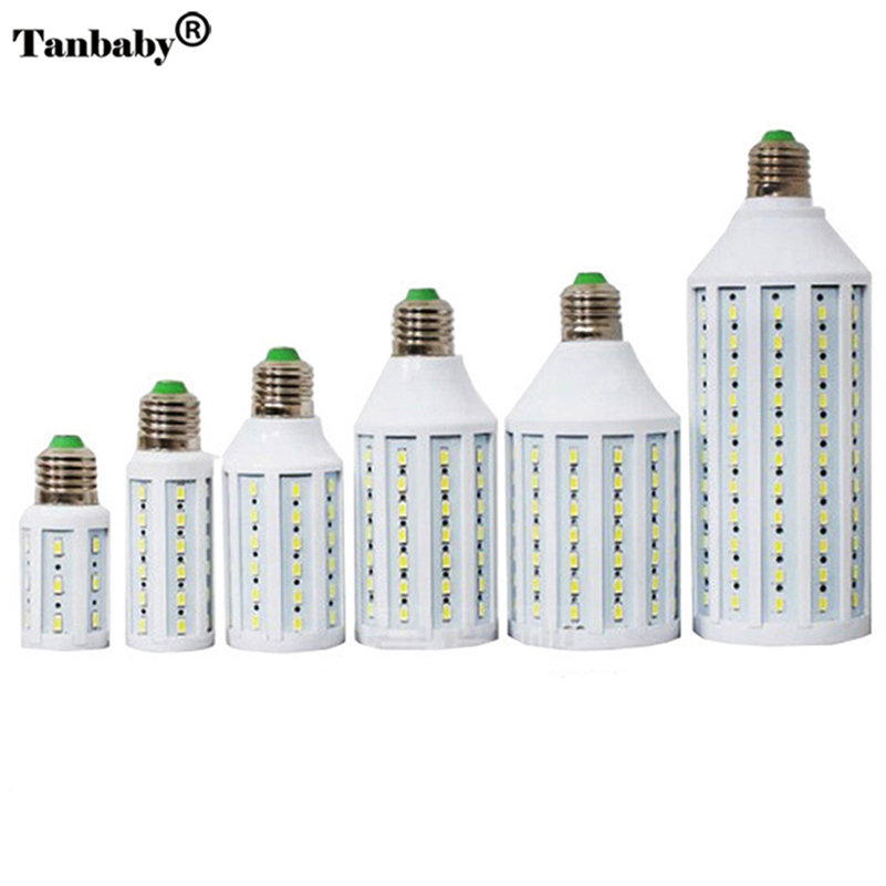 Tanbaby Corn Bulb E27 SMD 5730/5630 LED Lamp 7W 12W 15W 25W 30W 40W 50W Warm/White 360 Degree Light&lighting Indoor e27 15w 1200lm 71 smd 5730 led warm white light lamp white yellow 220v
