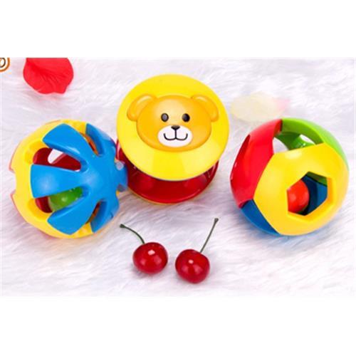 2016-os rohanó babajáték 3db szép színes haranglabda oktatási játékok Minőségi műanyag ujj hallókészülékek edzés baba