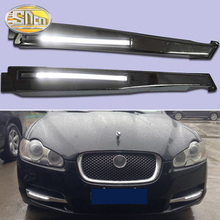 For Jaguar XF 2008 2009 2010 High brightness 12V Waterproof LED DRL Daytime Running Lights Fog Lamp sncn led fog lamp for ford fiesta 2009 2016 with daytime running lights drl 12v high brightness