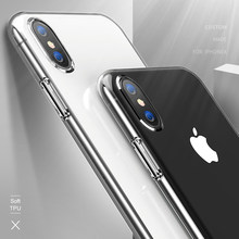 Ultra delgado TPU transparente cubierta para iPhone XS Max 8 7 6 6 S Plus 5 5S SE 4 4S claro funda de silicona para iPhone X XR 8 7 6 6 S(China)