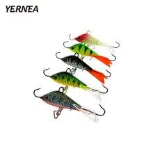 Yernea 5pcs/lot 6cm Winter Ice Bait Carp Fishing hooks Lead fishing lures set Hard Baits Lures Tackle
