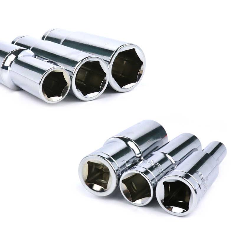 """8-32mm 드라이브 소켓 16 진수 소켓 드라이브 세트 CR-V 자동 자동차 수리 충격 소켓 전원 도구에 대 한 1/2 """"소켓 어댑터 1pc"""