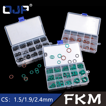 Fluorine rubber Ring FKM O Ring Seal FKM Sealing O-rings  Washer Rubber oring set Assortment Kit Set Box Ring silicone rubbe ring green fkm o ring 30size o ring seal rubber sealing o ring washer gasket o ring set assortment kit box