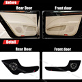 4pcs Fabric Door Protection Mats Anti-kick Decorative Pads For Skoda Superb