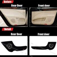4pcs Fabric Door Protection Mats Anti kick Decorative Pads For Skoda Superb