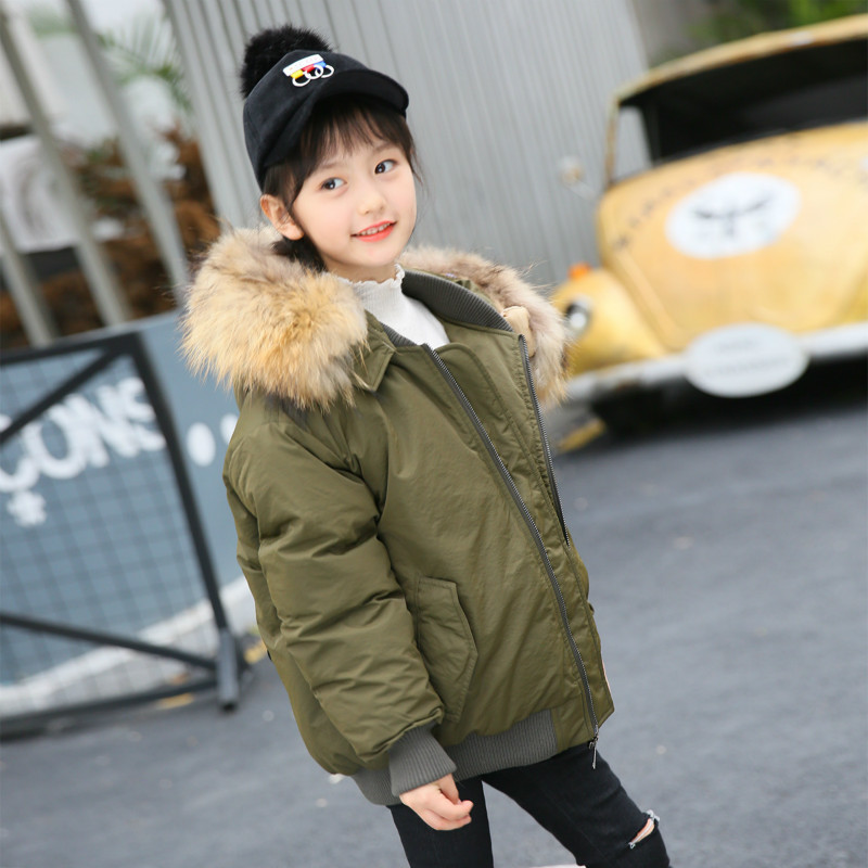 New Children's Clothing New Boys 'and Girls Jackets Big Boys Hats Big Hair Collars Fashion Casual Sleeves Wool Down Jacket. columbia big boys lightning lift jacket