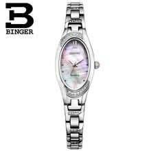 Switzerland Binger relogio feminino Women's watches luxury quartz sapphire full stainless steel Wristwatches B-3022L