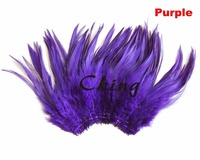 purple color rooster tails Feather trims 12 15cm coque feather strungs rolls sewed by thread 1kgs 5 6inch cock neck plumes