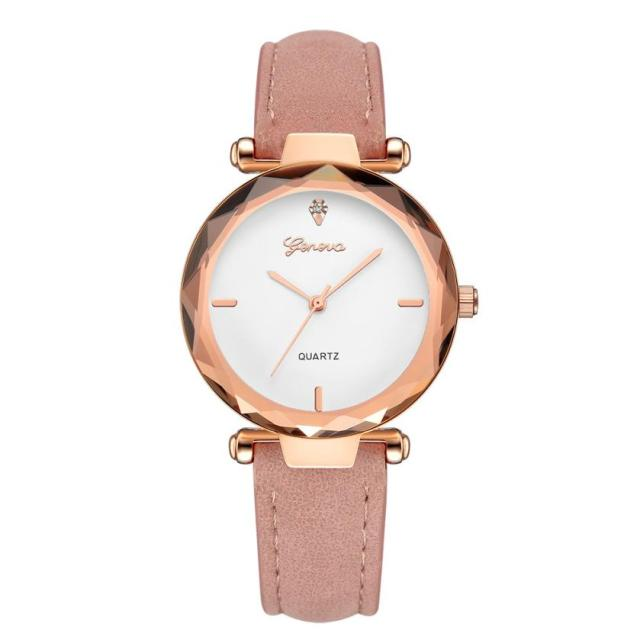 Fashion Golden Exquisite Ladies Watch Women Leather Ladies Wrist Watches Clock Saat Relogio Feminino bayan kol saati Gift #C