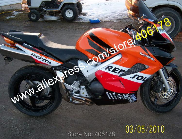Горячие продаж,обвес для Honda VFR800 02 03 04 05 06 07 08 09 10 11 12 ВФР 800 набор мотоцикла Репсол Обтекателя (литье под давлением)