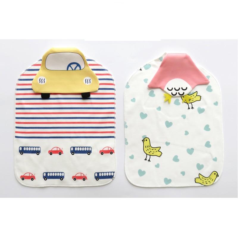 Купить с кэшбэком 2 Pcs/set Baby Sweat Towel Baby Stuff for Newborns 100% Cotton 1-3 Year Infant Girl/Boy Wash Cloth Sweat Back Towel