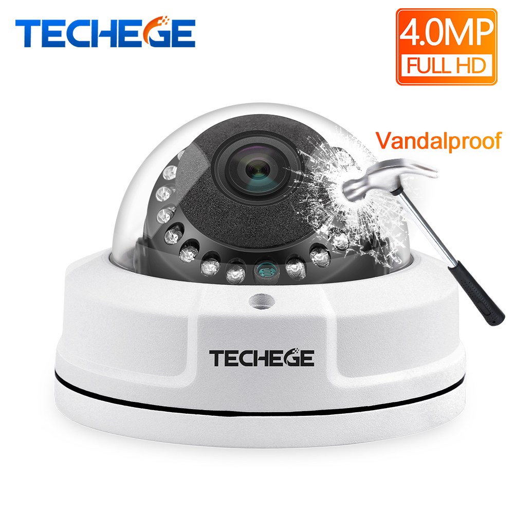 Techege H.265 4MP IP Camera Dome Camera P2P Onvif Security Camera 2592*1520 Vandalproof Alarm Email Night Vision Network CameraTechege H.265 4MP IP Camera Dome Camera P2P Onvif Security Camera 2592*1520 Vandalproof Alarm Email Night Vision Network Camera