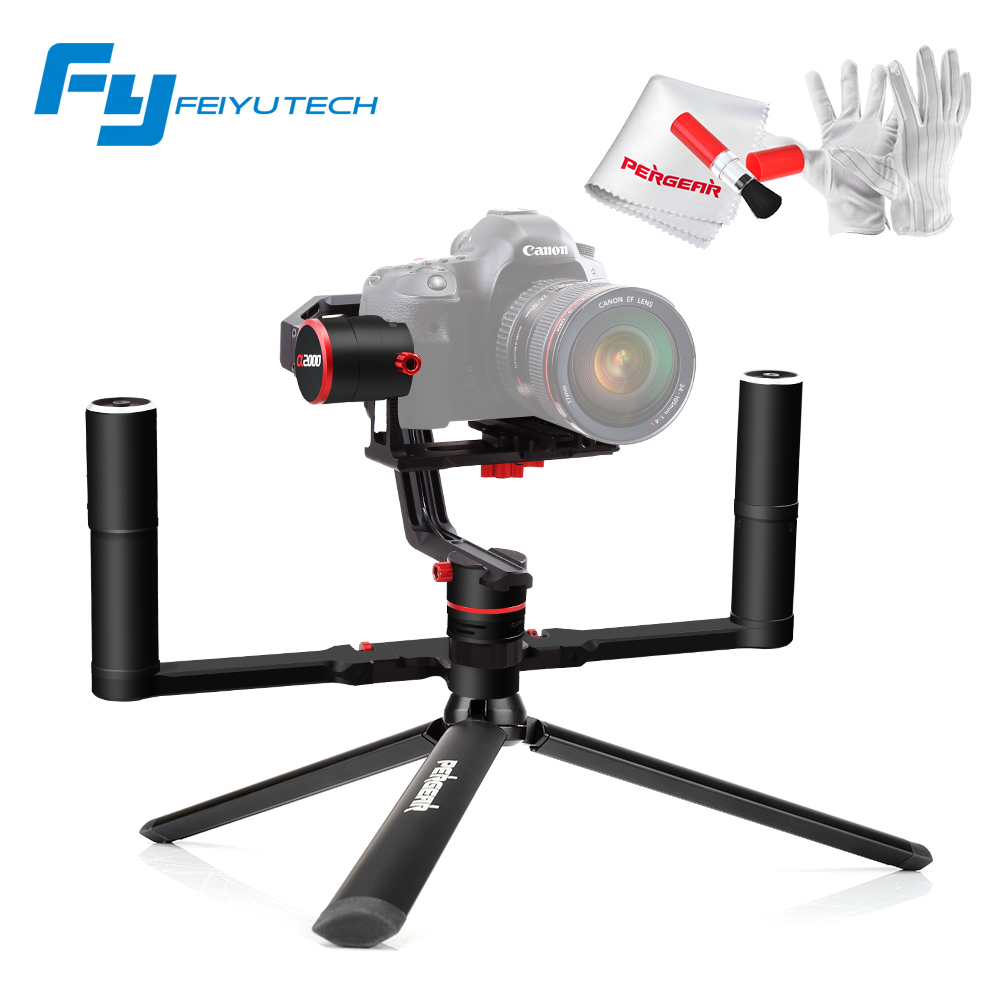 Feiyutech Feiyu a2000 3-Axis Gimbal Cameras Stabilizer Payload 2Kg with Dual Handheld Grip for Canon 5D A7 a6500 GH4/GH5 yuneec q500 typhoon quadcopter handheld cgo steadygrip gimbal black