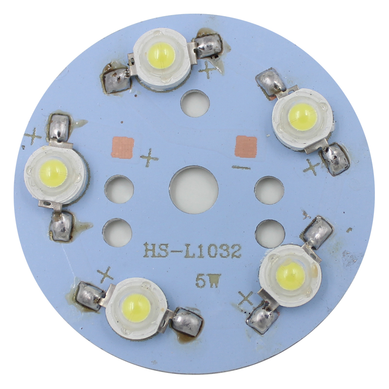 100pcs 5 X 1W LED Star HIGH POWER +50mm High Power LED Aluminum Base Plate radiator free shipping
