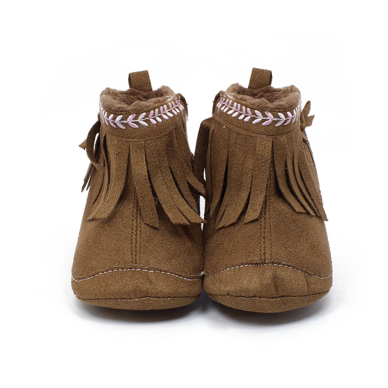 0 1 Years Newborn Baby Shoes Unique Tassel Style Design Baby Boots Warm Winter New Hot Sale Toddler Soft Baby Girl Boots in Boots from Mother Kids