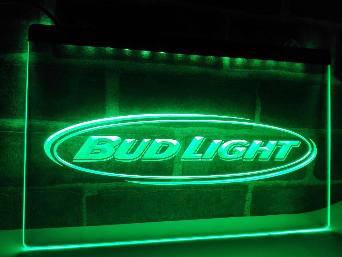 LA001 Bud Light Beer Bar Pub Club NR LED Neon Light Sign