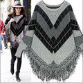 Мода одежды для беременных 2016 batwing рукавом кисточкой плащ свитер материнства свитер верхняя одежда