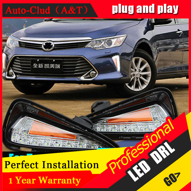 AUTO PRO 2015 For Toyota Camry LED DRL Car Styling New Camry LED Daytime Running Light LED fog lights LED driving lights car styling 2015 2017 camry daytime