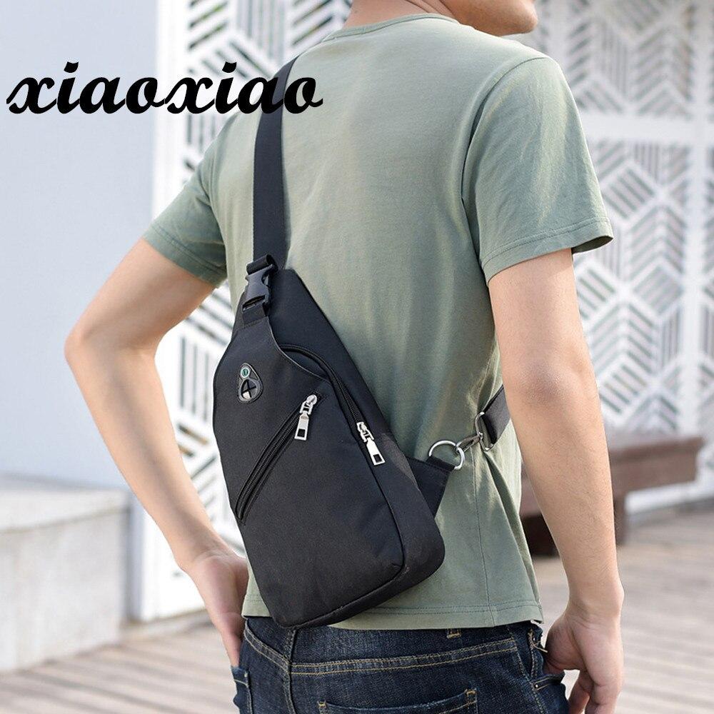 2019 High Quality Man Shoulder Bag Casual Men Pure Color USB Canvas Travel Military Messenger Shoulder Bag Chest Bag Sac A Main messenger bag