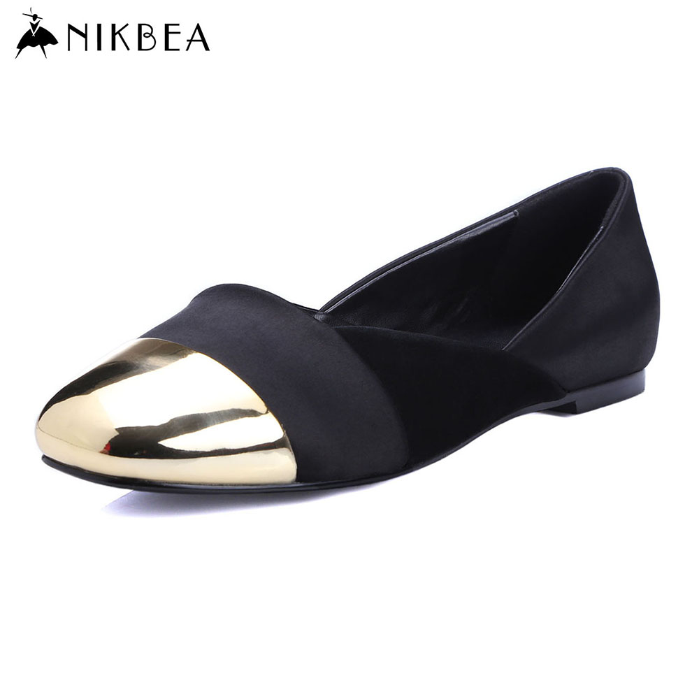 Nikbea 2016 Flat Shoes Women Ballerina Flats Boat Shoes Loafers Moccasins Ballerines Femme Chaussures Large Size Mocassin Femme a1330 summer solid small flap bag ladies leather handbags women messenger bags female shoulder crossbody bag candy color sweet