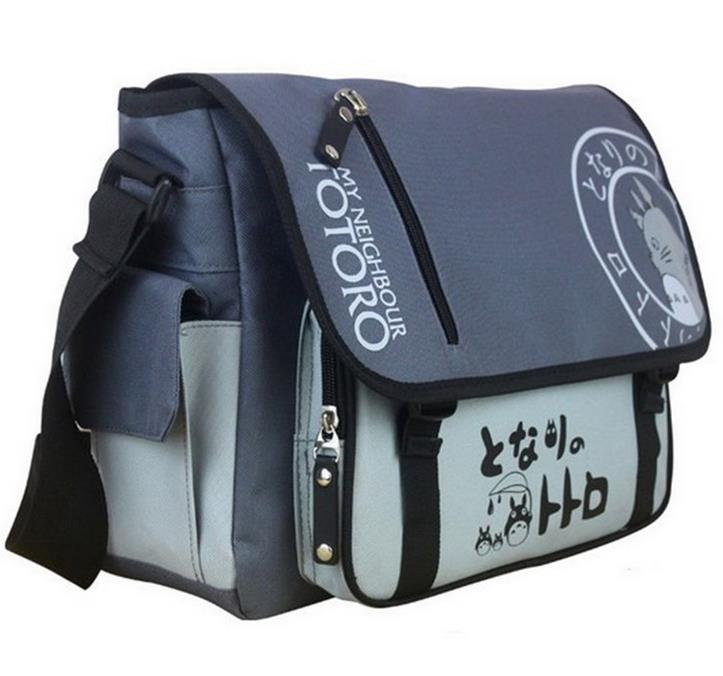 Ecoparty Sling Pack School Bags Durable Anime Travel Bag  2017 New Tonari no Totoro My Neighbor Totoro Messenger Bags ecopartyattack on titan sling pack school bags messenger bag travel male men s bag anime shingeki no kyojin shoulder bag
