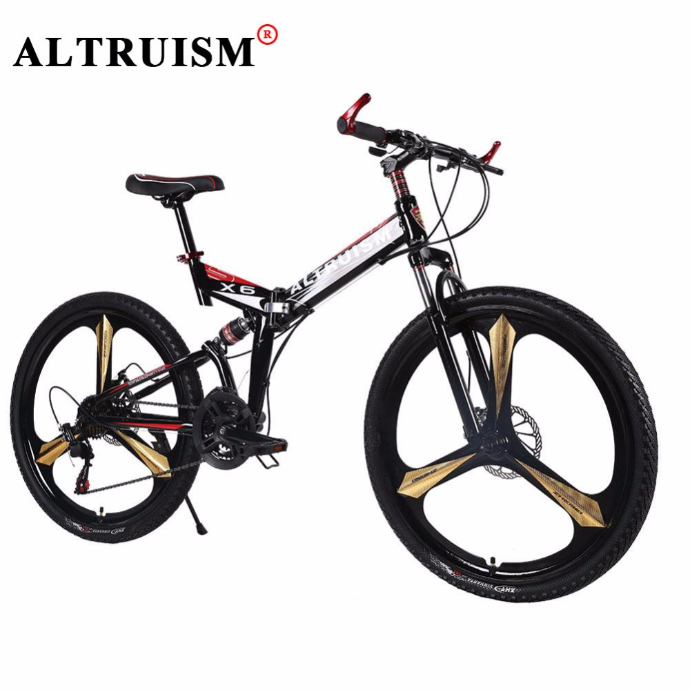 Altruism X6 Mountain Bicycle Brand New High Quality Bicicleta 21 Speed 26 Mountain Bike Racing Double Disck Break Cycling altruism x6 folding bicycle 21 speed 26inch steel mountain bike completion for male bicicleta for montanha red blue black